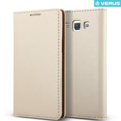 Verus Crayon Diary Samsung Galaxy A7 Leather-Style Case - Warm Grey