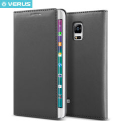 Verus Crayon Diary Samsung Galaxy Note Edge Leather-Style Case - Black