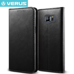 Verus Crayon Diary Samsung Galaxy S6 Leather-Style Case - Black