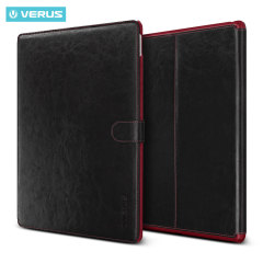 Verus Dandy Leather Style iPad Pro 12.9 inch Case - Black