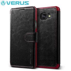 Verus Dandy Leather-Style Samsung Galaxy A5 2016 Wallet Case - Black