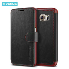Verus Dandy Leather-Style Samsung Galaxy S6 Wallet Case - Black