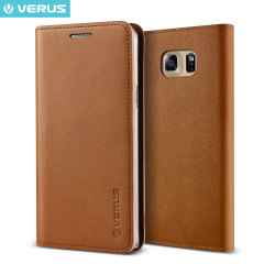 Verus Samsung Galaxy Note 5 Genuine Leather Wallet Case - Brown