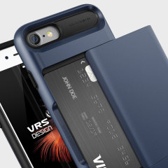 VRS Design Damda Glide iPhone 7 Case - Steel Blue