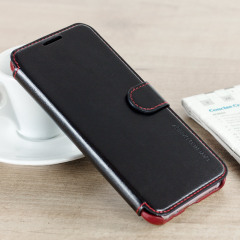 VRS Design Dandy Leather-Style Galaxy S8 Plus Wallet Case - Black
