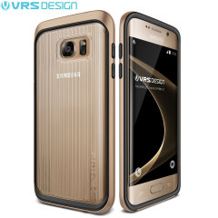VRS Design Triple Mixx Samsung Galaxy S7 Edge Case - Shine Gold