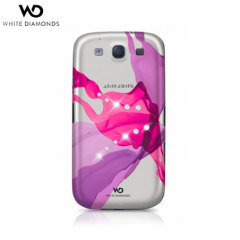 White Diamonds Samsung Galaxy S3 Liquid Case - Pink