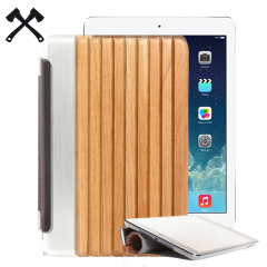 Woodcessories EcoGuard Genuine Cherry Wood iPad Mini 4 Case - Silver