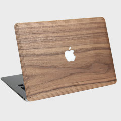 WoodWe Real Wood Apple Macbook Pro Retina 15 Cover - Walnut