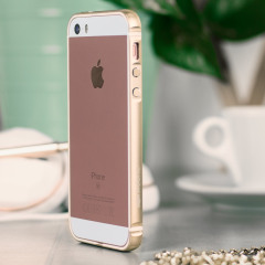 X-Doria Bump Gear Plus iPhone SE Aluminium Bumper Case - Gold