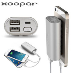 Xoopar Squid Mini 5200mAh Dual USB Power Bank - Silver