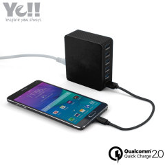 Ye!! 6-Port USB Qualcomm Quick Charge 2.0 Power Adapter - Black