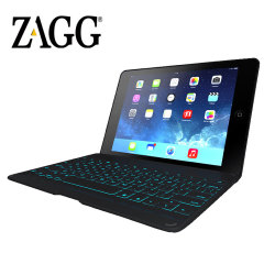ZAGGkeys Bluetooth Keyboard Folio Case for iPad Air - Black