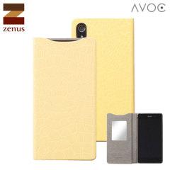 Zenus Avoc Sony Xperia Z2 Mirror Diary Case - Yellow