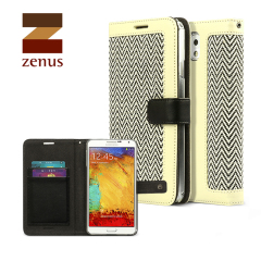 Zenus Herringbone Diary Case for Samsung Galaxy Note 3 - Ivory