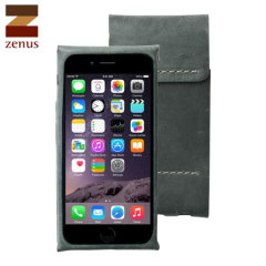 Zenus Italian Alpla Leather Classy iPhone 6 Pouch - Khaki