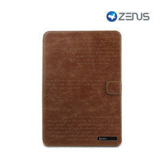 Zenus Leather Samsung Galaxy Tab 2 10.1 Case - Brown Lettering