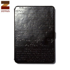 Zenus Lettering Diary for iPad Air - Black