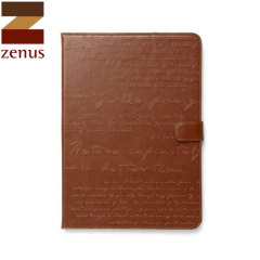 Zenus Lettering Diary for iPad Air - Brown