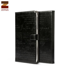 Zenus Lettering Diary for Samsung Galaxy Tab 3 8.0 - Black