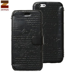 Zenus Lettering Diary iPhone 6 Case - Black