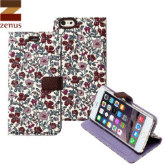 Zenus Liberty Diary iPhone 6 Plus Case - Meadow Violet