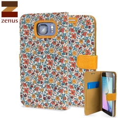 Zenus Liberty Diary Samsung Galaxy S6 Wallet Case - Meadow Orange