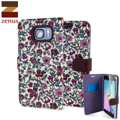 Zenus Liberty Diary Samsung Galaxy S6 Wallet Case - Meadow Violet