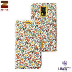 Zenus Liberty of London Galaxy S5 Diary Case - Orange Meadow