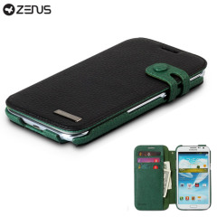 Zenus Masstige Color Edge Diary Case for Galaxy Note 2 - Black / Green