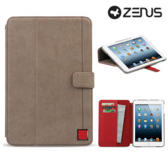 Zenus Masstige Color Point Folio iPad Mini 3 / 2 / 1 Case - Beige/Red