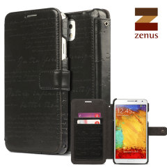 Zenus Masstige Lettering Diary Case for Samsung Galaxy Note 3 - Black