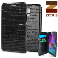 Zenus Masstige Lettering Samsung Galaxy Note 4 Diary Case - Black