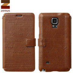 Zenus Masstige Lettering Samsung Galaxy Note 4 Diary Case - Brown