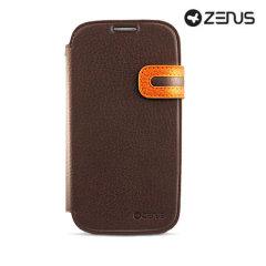 Zenus Masstige Modern Edge Diary Case for Samsung Galaxy S4 - Brown