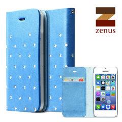 Zenus Masstige Z Brogue Diary for iPhone 5C - Blue