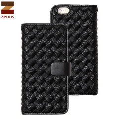 Zenus Mesh Diary iPhone 6S / 6 Wallet Case - Black
