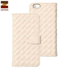 Zenus Mesh Diary iPhone 6S / 6 Wallet Case - White