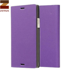 Zenus Metallic Diary Case For Samsung Note 4 - Violet