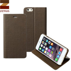 Zenus Metallic Diary iPhone 6 Plus Case - Bronze