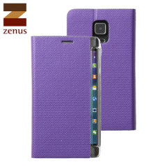 Zenus Metallic Diary Samsung Galaxy Note Edge Case - Violet