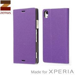 Zenus Metallic Diary Sony Xperia Z3 Case - Violet