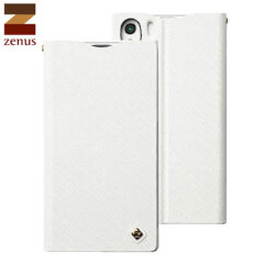 Zenus Minimal Diary Case for Sony Xperia Z1 - White