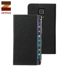 Zenus Minimal Diary Samsung Galaxy Note Edge Wallet Case - Black