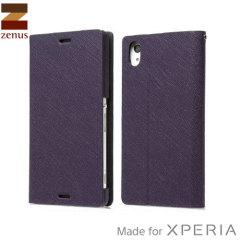 Zenus Minimal Diary Sony Xperia Z3 Case - Purple