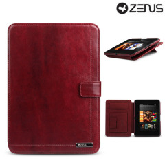 Zenus Neo Classic Diary for Kindle Fire HD 2012 - Wine Red