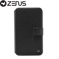 Zenus Prestige Carbon Diary Series for Samsung Galaxy Note - Black