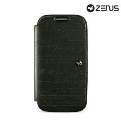 Zenus Prestige Samsung Galaxy S4 Lettering Diary Series - Dark Grey