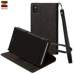 Zenus Sony Xperia Z2 Minimal Diary Stand Case - Black