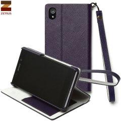 Zenus Sony Xperia Z2 Minimal Diary Stand Case - Purple